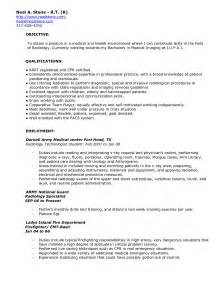 Radiologic Technologist Sle Resume by X Tech Cover Letter Cover Letter Templates