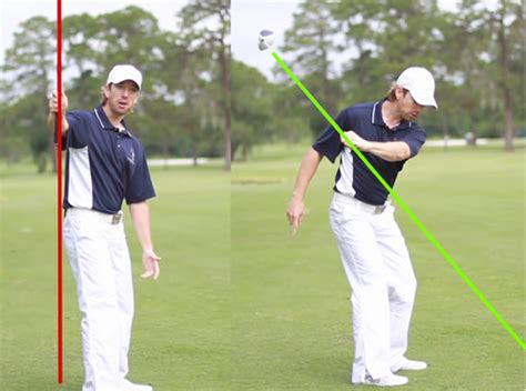 left arm golf swing stop coming over the top your first step to eliminate