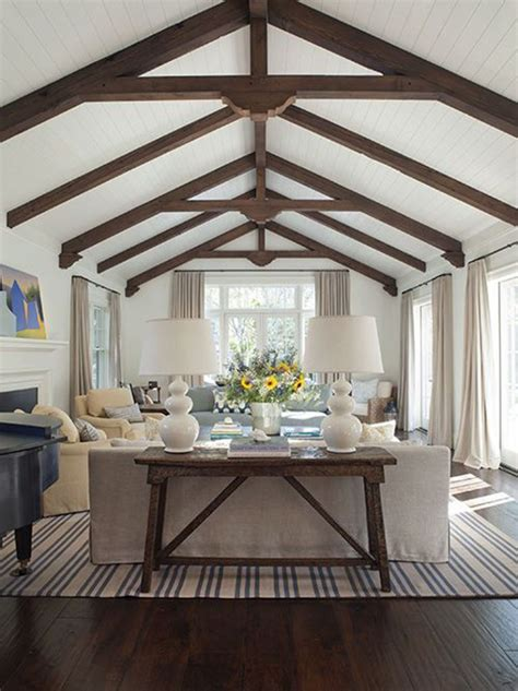vaulted ceiling with beams vaulted ceilings white or wood
