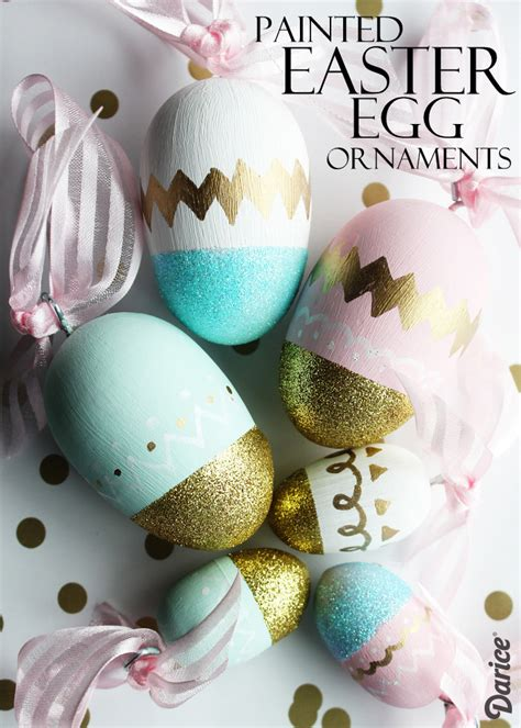 diy ornaments egg painted eggs tutorial easter egg ornaments darice