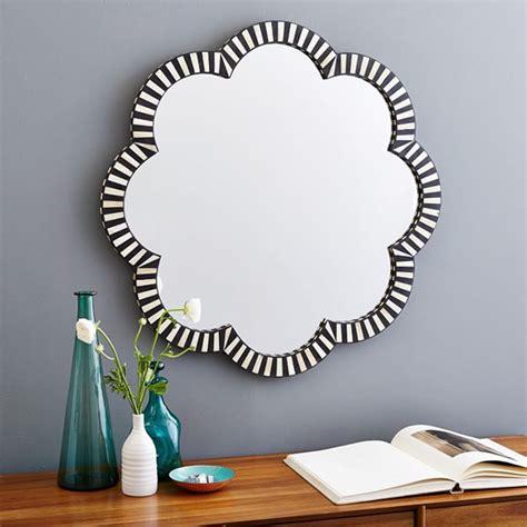 flower pattern wall mirror black and white striped mirror makeover cuckoo4design