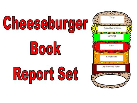 hamburger book report template cheeseburger book report set other files documents and
