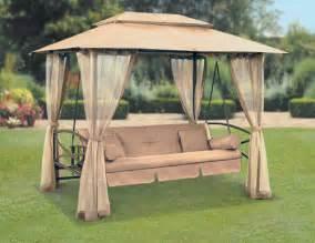 gazebo with swings suntime luxor swing gazebo with free cover