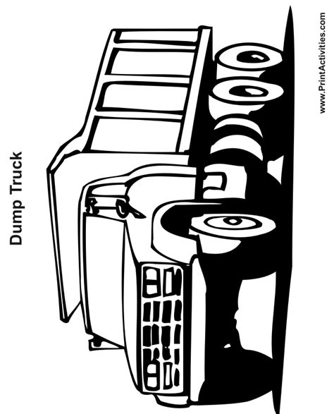Free Flatbed Truck Coloring Pages Dump Truck Coloring Pages