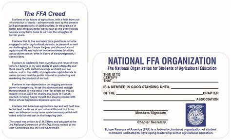 ffa certificate template membership cards 00623 0000