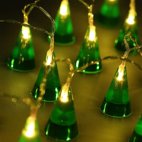 20led battery powered cone string fairy light garden tree