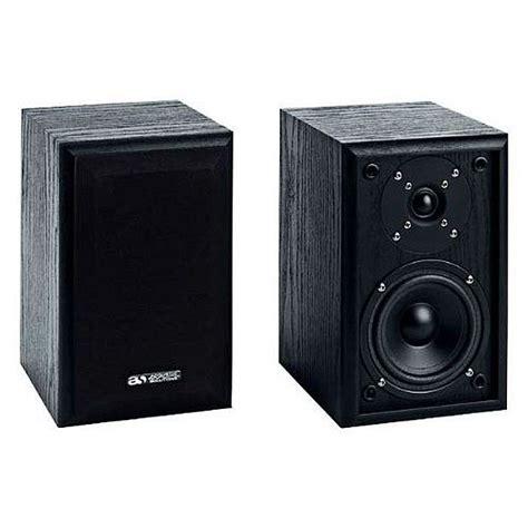 Paragon Acoustics Bookself Speaker acoustic solutions acoustic solutions av21 bookshelf speakers pair black 50w vinyl at juno