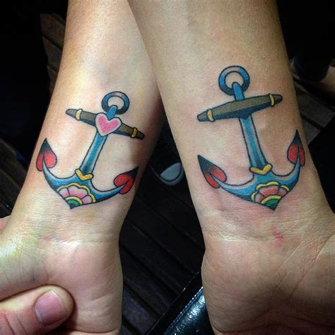 anchor couple tattoos 20 matching anchor tattoos for couples