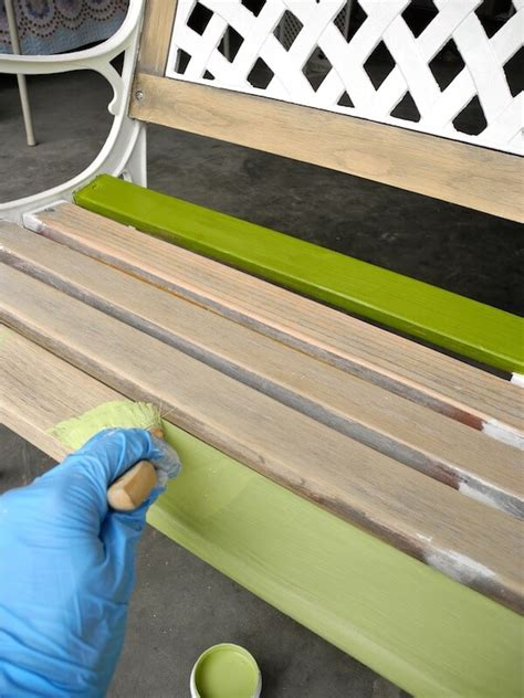 how to paint a wooden bench weekend diy project wow up an old park bench homejelly