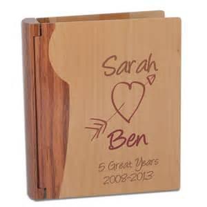 Personalised Wooden Vase Personalised Wooden Anniversary Photo Album