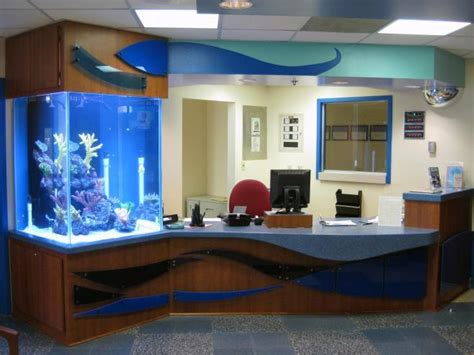 Fish Tank Reception Desk Shands Children S Surgical Center Renovation Donnelly Architecture