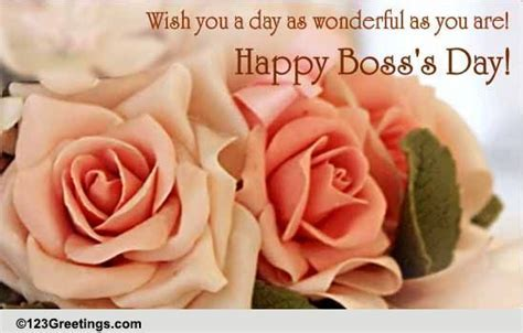 A Wonderful Boss's Day. Free Happy Boss's Day eCards