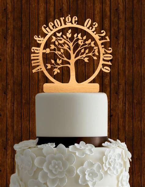 Handmade Cake Toppers - tree of wedding cake topper custom cake topper
