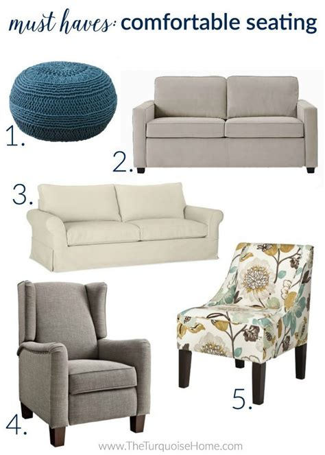 comfortable seating for small rooms 5 things every living room needs the turquoise home