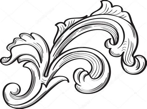 acanthus scroll leaf stock vector 169 buravtsoff 83999996