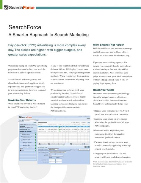 Search Software Paid Search Software Pay Per Click Software Ppc Management Searchf