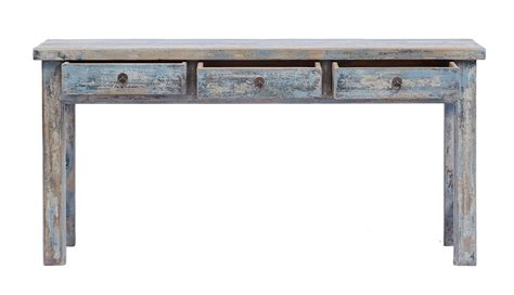 distressed sofa table with drawers distressed console table rustic reclaimed wood naturally