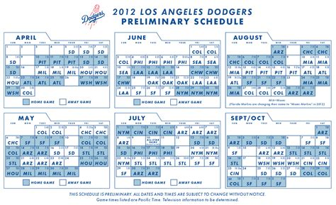 image gallery los angeles dodgers schedule