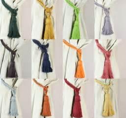 Tiebacks For Curtains Pair Cotton Tassel Rope Curtain Tiebacks Tie Backs 12 Colours New Ebay
