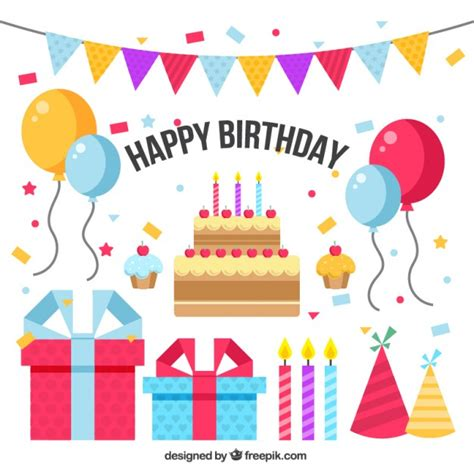 birthday layout vector birthday background design vector free download