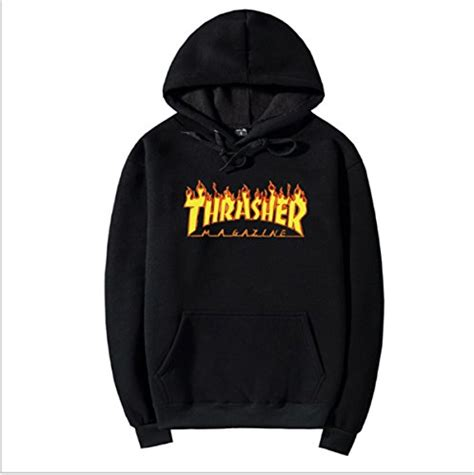 Sleeve Hoodie Abu Cloth dksm thrasher logo s fleele hoodies cotton s