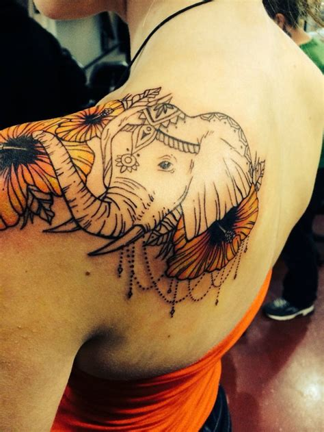 elephant tattoo with flowers 60 best elephant tattoos meanings ideas and designs 2018
