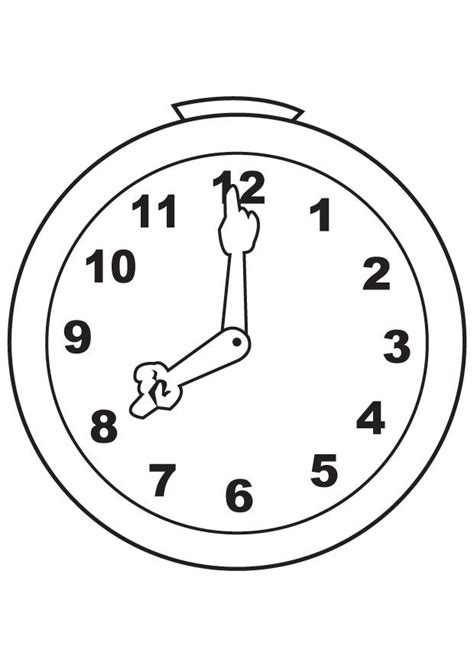 Cuckoo Clock Drawing Coloring Pages Clock Coloring Page