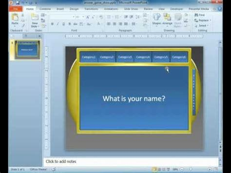 Game Show Powerpoint Template Youtube Quiz Show Powerpoint Template