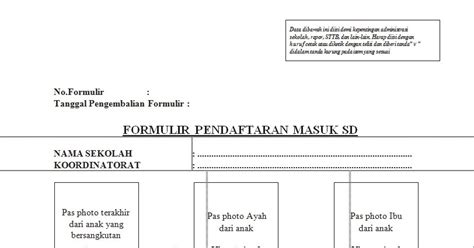 contoh formulir pendaftaran masuk sd newhairstylesformen2014