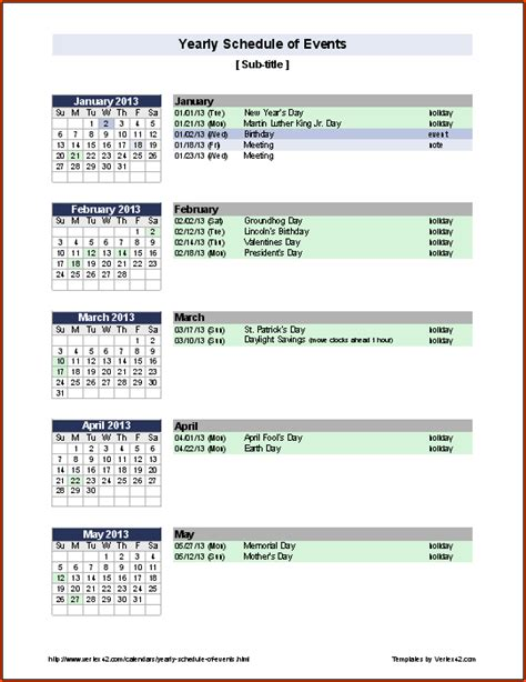 event schedule template bookletemplateorg