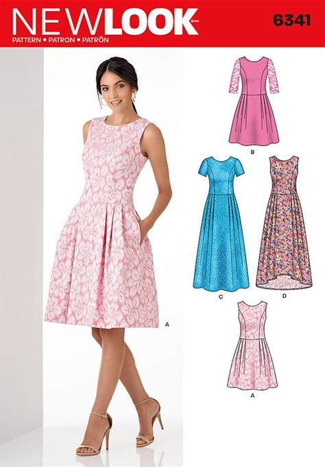 pattern finder sewing new look 6341 misses dress in three lengths sewing
