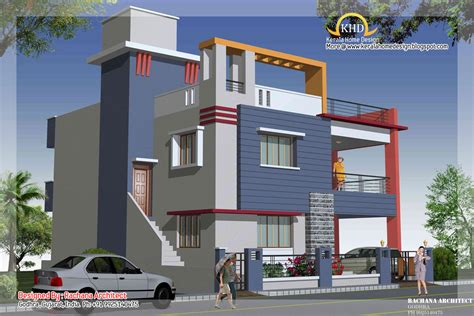2 Story House Plans by Duplex House Plan And Elevation 2349 Sq Ft Indian