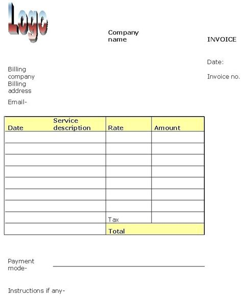 invoice template for services provided sle invoice for services virtuart me