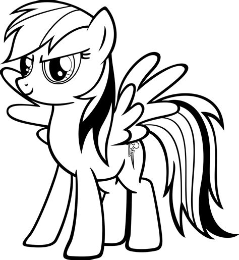 free my little pony rainbow dash coloring pages