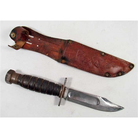 us army combat knife us army combat survival knife w leather scabbard