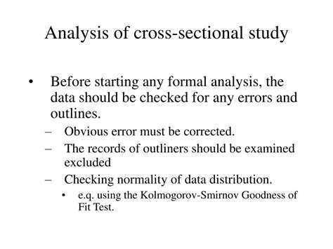 ppt cross sectional study powerpoint presentation id