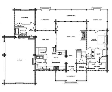 Log Homes Floor Plans Log Home Floor Plan South Fork