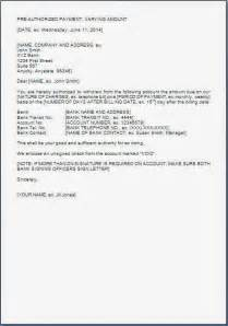 Authorization Letter For Transfer Account Name electronic calendar template bestsellerbookdb