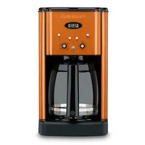 Brew central coffee maker orange orange appliances cook amp prep