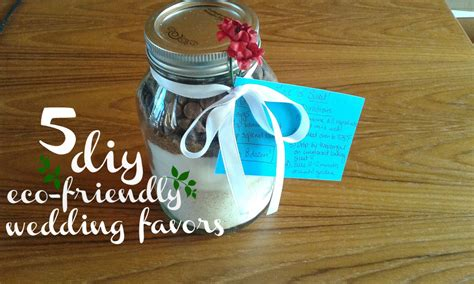 5 eco friendly diy wedding favors weddingbee