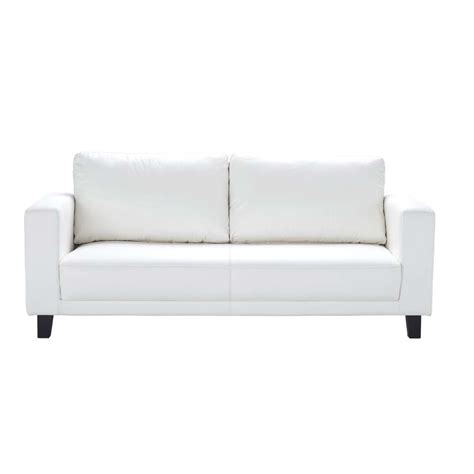 White Settee Sofa 3 Seater Sofa In White Nikeo Maisons Du Monde