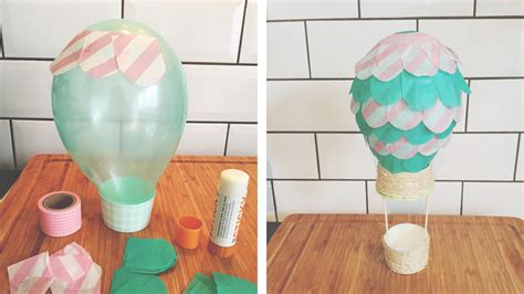 How To Make An Air Balloon Out Of Paper - air balloons rainbow dreams the artful ordinary