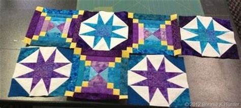 Smith Mountain Morning Quilt Pattern by Smith Mountain Morning In Purple And Blue Bonnie