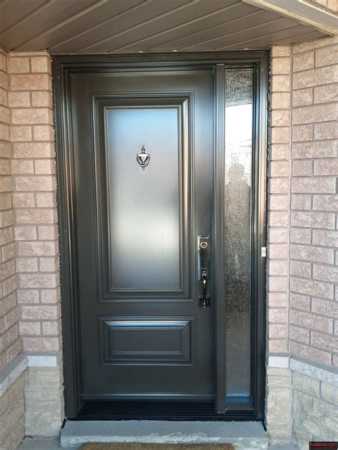 Steel Entry Doors Glass Single Steel Door With A Glass Sidelite Executive Style Panels Lusso Design Entry Doors