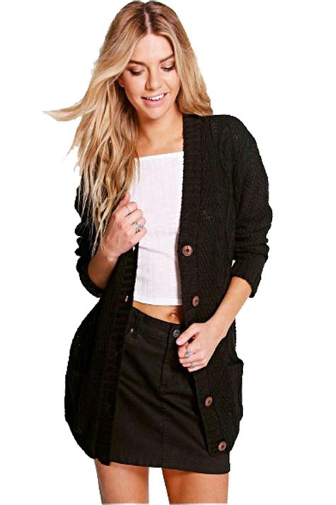 Top Five Cardigans by New Womens Boyfriend Button Front Cardigan