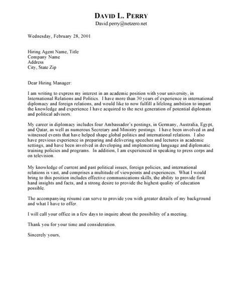 free letter of interest templates ambassador cover