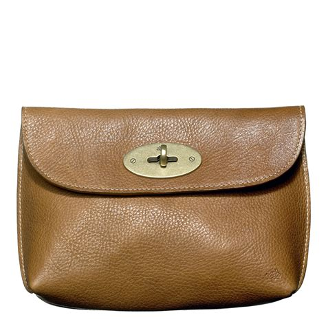 Mulberry Locked Purse by Mulberry Locked Cosmetic Purse In Brown Oak Lyst