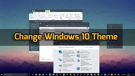 beautiful themes for windows 10 how to change windows 10 theme flat theme free youtube