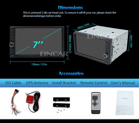 eincar android car radio wireless rearview