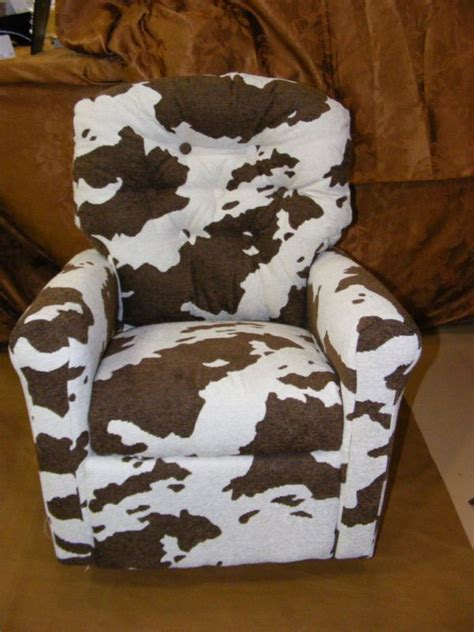 General Chair by Cowhide Kids Rocking Recliner Cow Print Chair